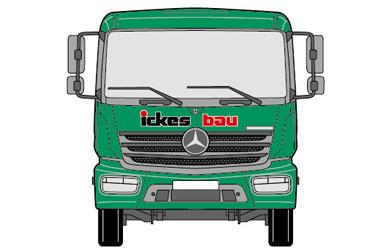 Kfz-Beschriftung Mercedes Atego
