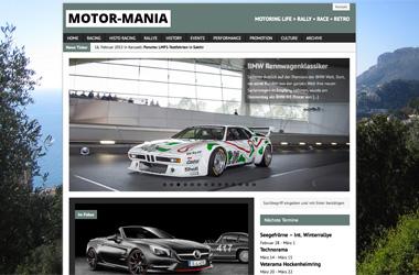 Webseite für ein <br> Motor-Szene-Portal